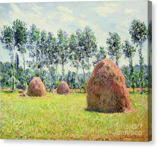 Suzuki Canvas Print - Haystacks At Giverny by Claude Monet