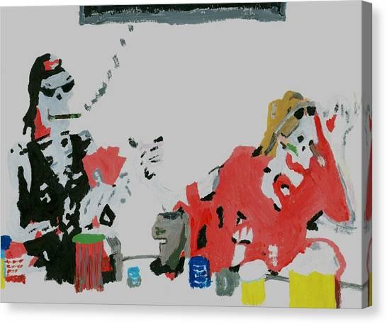 He Dealt Me A Dead Hand Canvas Print