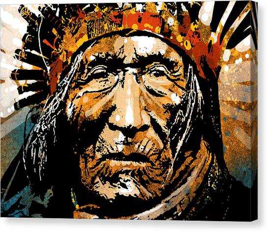 Native Americans Canvas Print - He Dog by Paul Sachtleben