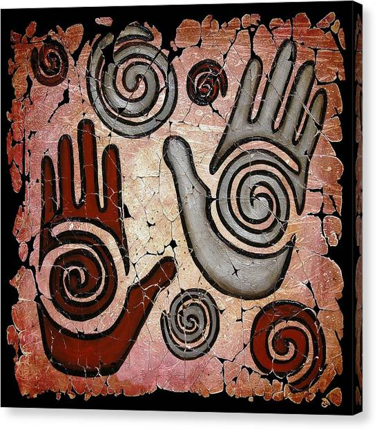 Healing Hands Fresco Canvas Print