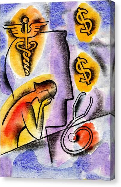 Health Insurance Canvas Print - Health Insurance by Leon Zernitsky