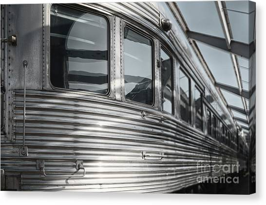 Bullet Trains Canvas Print - Heavy Metal by Margie Hurwich