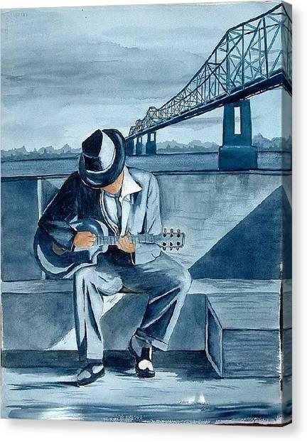 Helena Blues Canvas Print