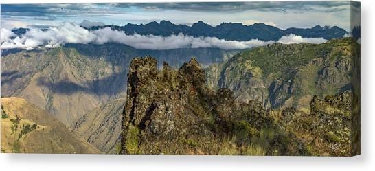 Hells Canyon Panoramic Canvas Print by Leland D Howard