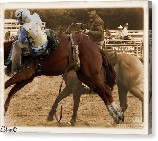 Helluva Rodeo-the Ride 6 Canvas Print
