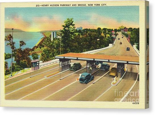 Henry Hudson Bridge Postcard  Canvas Print