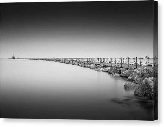 Neptune Canvas Print - Herne Bay Neptunes Arm  by Ian Hufton