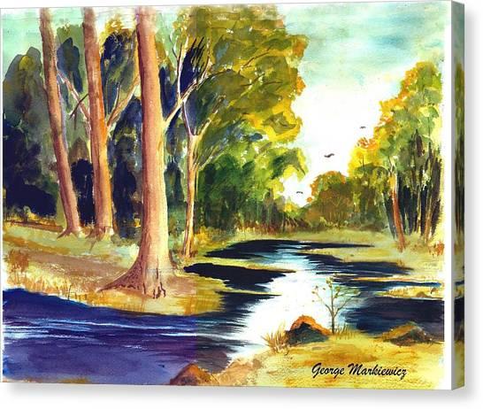 Hidden Glade Canvas Print by George Markiewicz