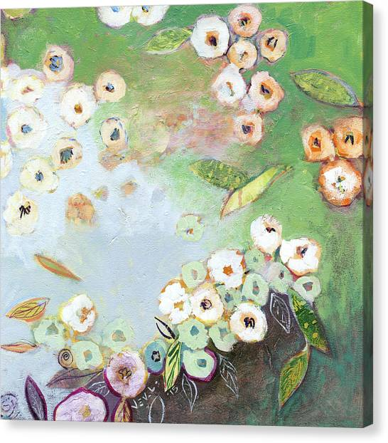Lily Pond Canvas Print - Hidden Lagoon Part I by Jennifer Lommers