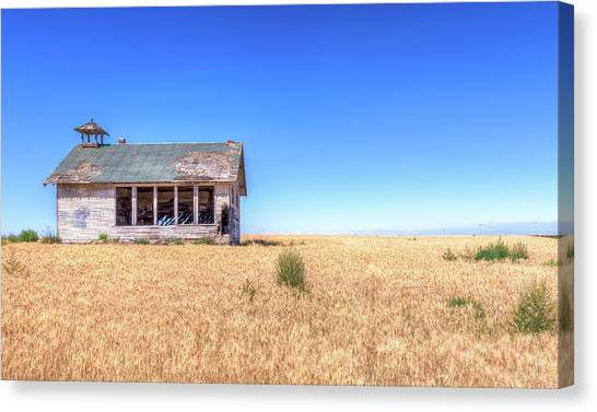 Abandoned School Canvas Print - Highland School House by Spencer McDonald