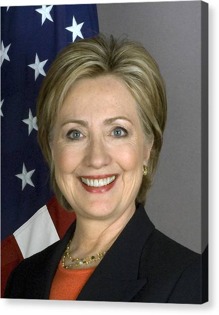 Hillary Clinton Canvas Print - Hillary Clinton by War Is Hell Store
