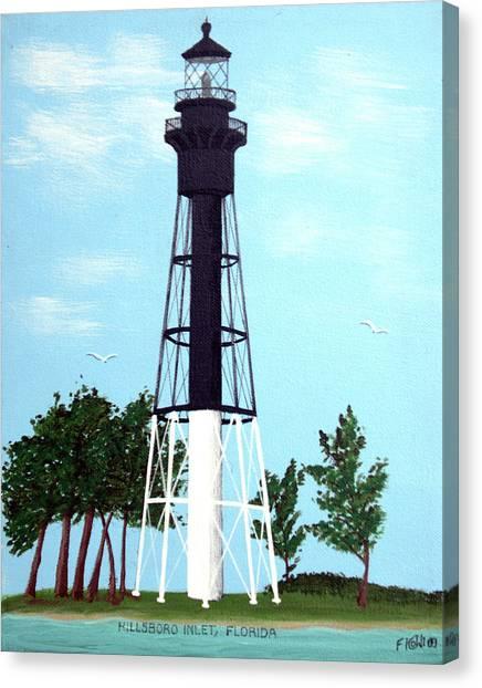 Hillsboro Inlet Lighthouse Canvas Print by Frederic Kohli
