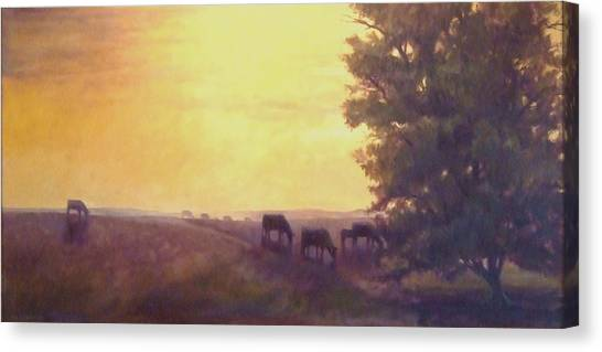 Hillside Silhouettes Canvas Print by Ruth Stromswold
