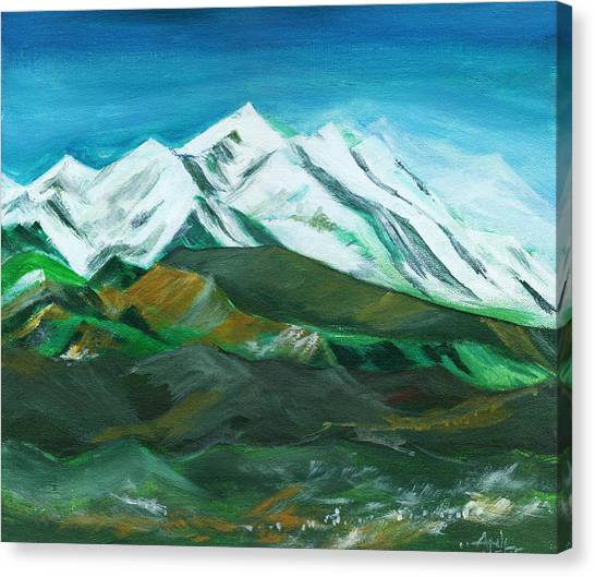 Bob Ross Canvas Print - Himalaya by Anil Nene