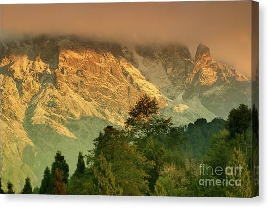 Kangchenjunga Canvas Print - Himalayan Mountain Range At Ravangla, Sikkim by Rudra Narayan Mitra