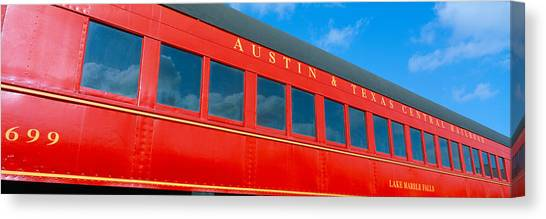 Caboose Canvas Print - Historic Red Passenger Car, Austin & by Panoramic Images