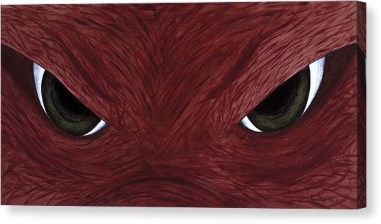 Hog Eyes Canvas Print by Amy Parker
