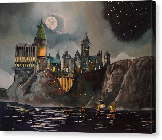 Castle Canvas Print - Hogwart's Castle by Tim Loughner