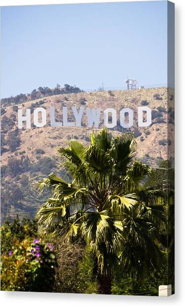 Santa Monica Canvas Print - Hollywood Sign Photo by Paul Velgos