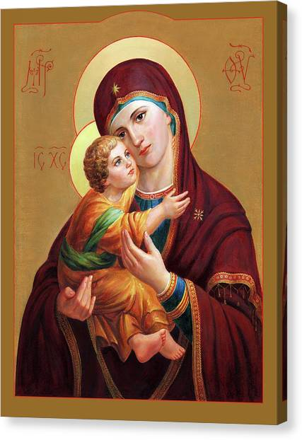 Saints Canvas Print - Holy Mother Of God - Blessed Virgin Mary by Svitozar Nenyuk
