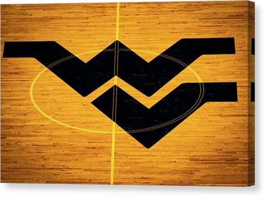 West Virginia University Wvu Canvas Print - Home Court  by Aaron Geraud