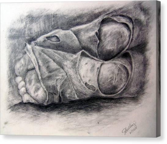 Homeless Feet Canvas Print