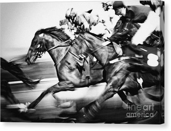 Horse Racing Canvas Print