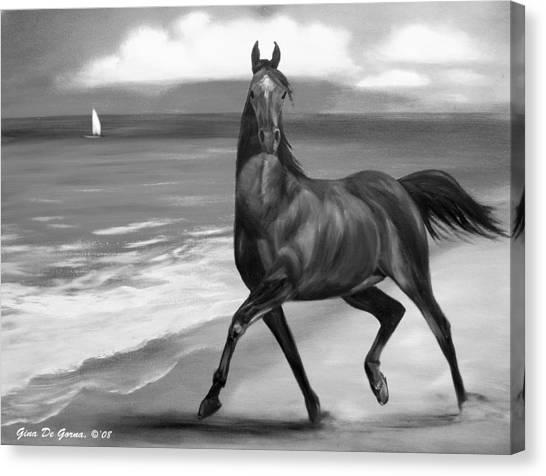 Horses In Paradise  Dance Canvas Print