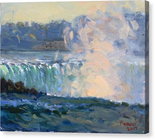 Horseshoe Falls Canvas Print - Horseshoe Falls by Ylli Haruni