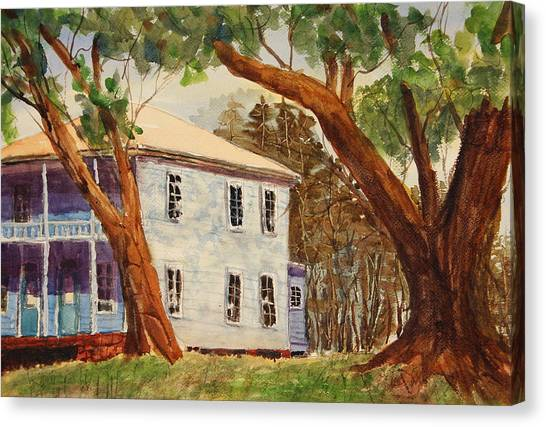 House On Front Street Canvas Print by Barry Jones