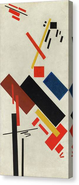 Suprematism Canvas Print - House Under Construction by Kazimir Malevich