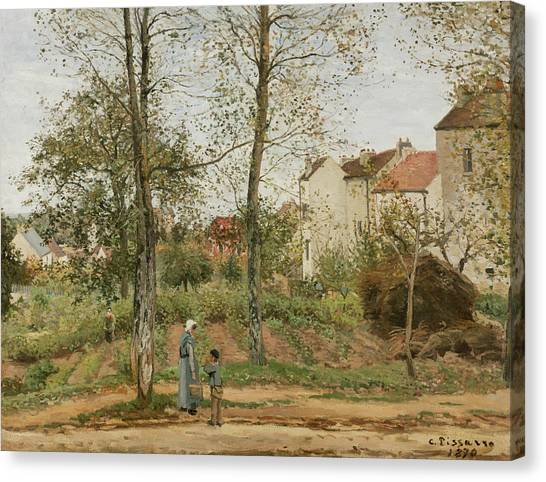 Camille Canvas Print - Houses At Bougival  by Camille Pissarro