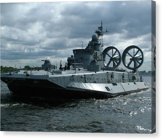 Battleship Canvas Print - Hovercraft by Maye Loeser