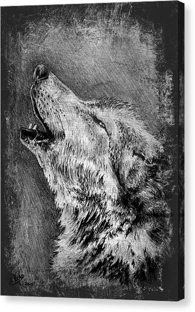 Howling Wolves Canvas Print - Howling Wolf by Andrew Read