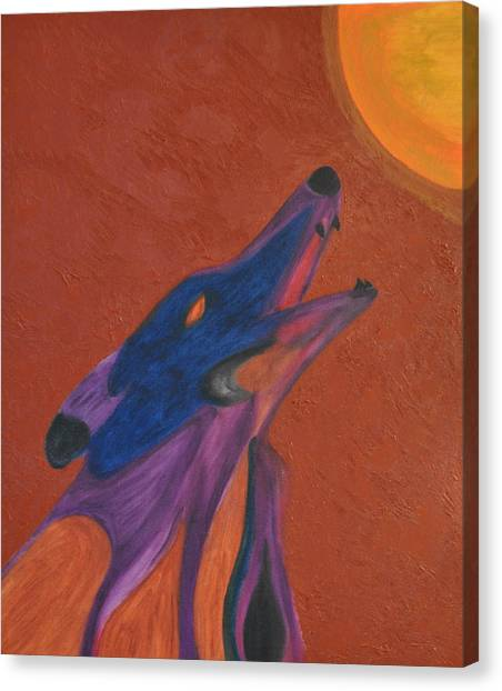 Howling Wolves Canvas Print - Howling Wolf by Luiz