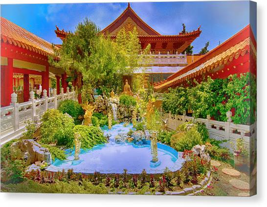 Hsi Lai Temple Canvas Print