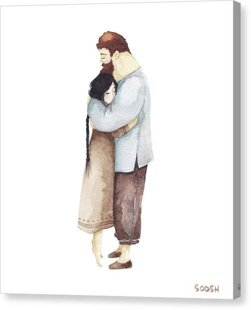 Valentines Canvas Print - Hug Me by Soosh