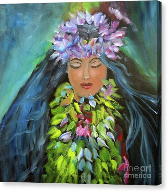 Hula Maiden Canvas Print
