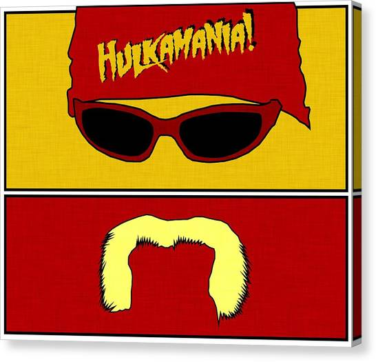 Hulk Hogan Canvas Print - Hulk Hogan - Hulkamania by Kyle West