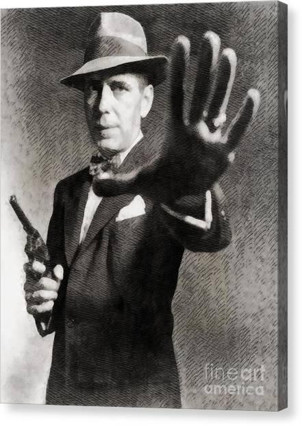 Stardom Canvas Print - Humphrey Bogart, Vintage Hollywood Legend by John Springfield