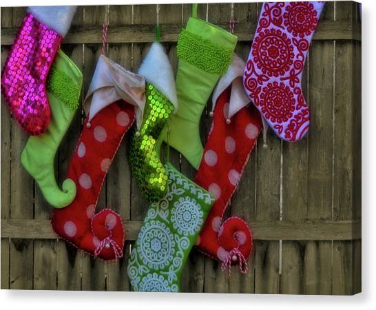 Stockings Hung With Care Canvas Print by JAMART Photography