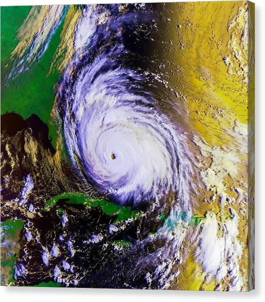 Carolina Hurricanes Canvas Print - Hurricane Floyd   by Jon Neidert