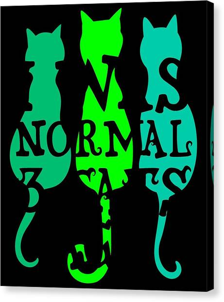 Ocicats Canvas Print - I Was Normal 3 Cats Ago 2 by Kaylin Watchorn