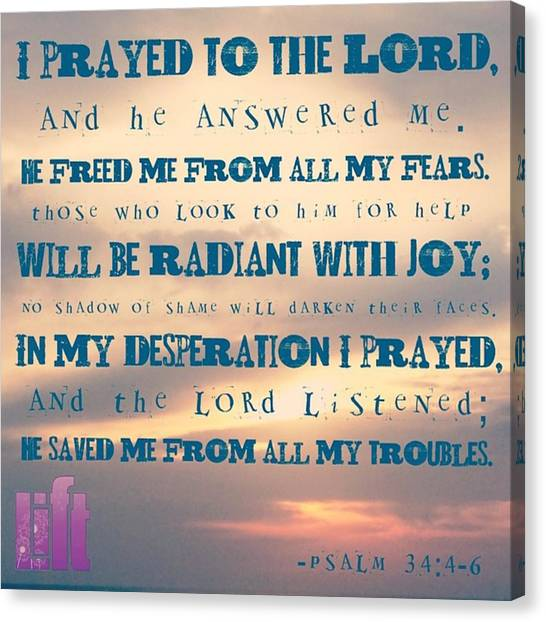 Design Canvas Print - I Will Praise The Lord At All Times.  I by LIFT Women's Ministry designs --by Julie Hurttgam