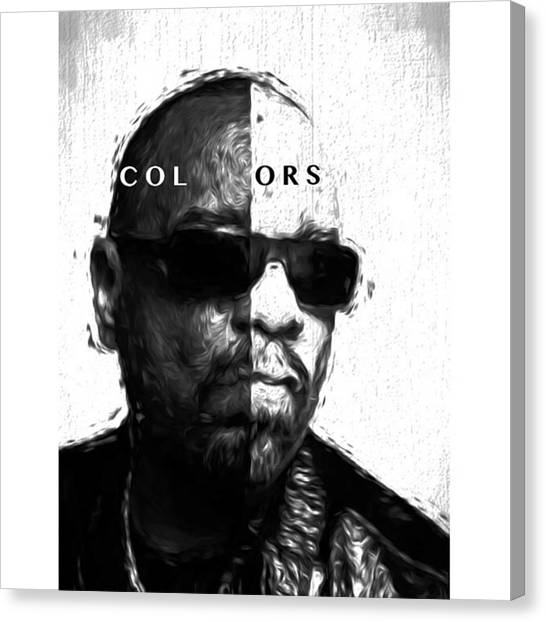 Celebrities Canvas Print - Ice-t Colors The Ganga Of La Will Never by David Haskett II