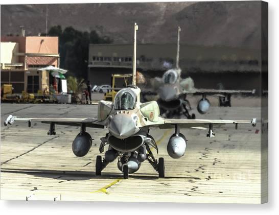Idf/af F-16i Sufa - Blue Flag 2017 Canvas Print
