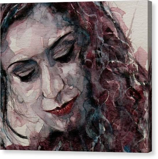 Lips Canvas Print - If You Leave Me Now  by Paul Lovering