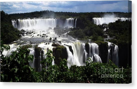 Iguazu Falls Canvas Print - Iguazu Falls South America 17 by Bob Christopher