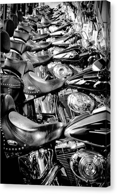 I'll Have A Dozen Harley's To Go Please Canvas Print