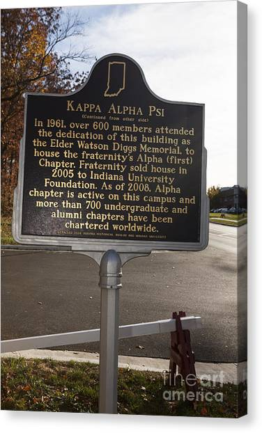 Kappa Alpha Psi Canvas Print - In-53.2008.1 Kappa Alpha Psi by Jason O Watson